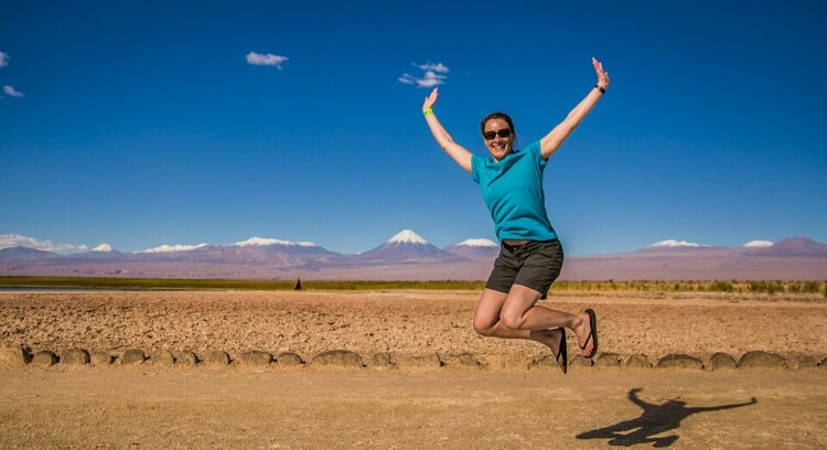 Caminho a laguna cejar em San Pedro de Atacama