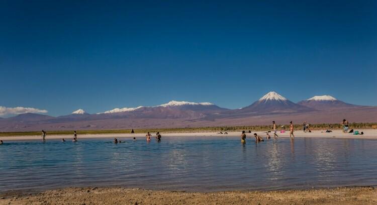 Laguna Cejar em San Pedro de Atacama