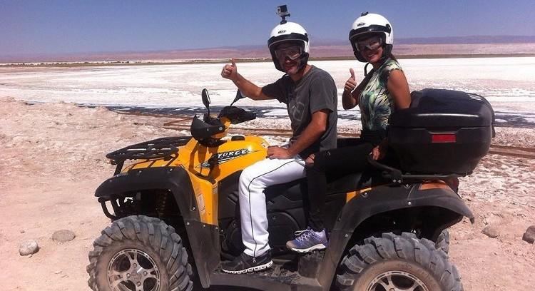 Quadriciclo no salar de Atacama