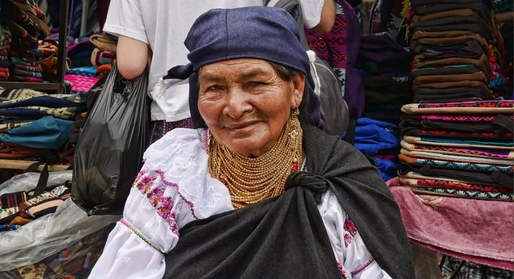 Andean Woman in Ecuador